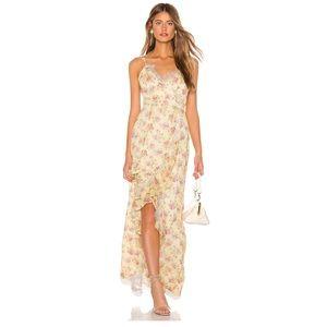 Majorelle Paisley Dress Yellow Maxi